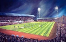 East End Park Dunfermline 1970 v Anderlecht 20'' x 30'' Box Canvas Print